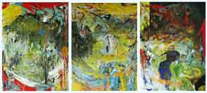 lord of the rings triptych, oil, 1998